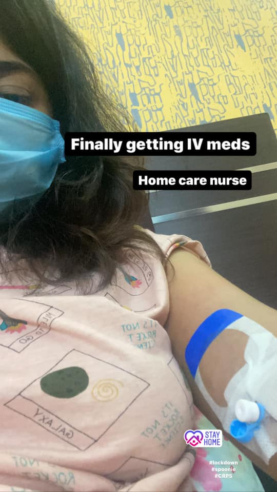 girl receiving IV
