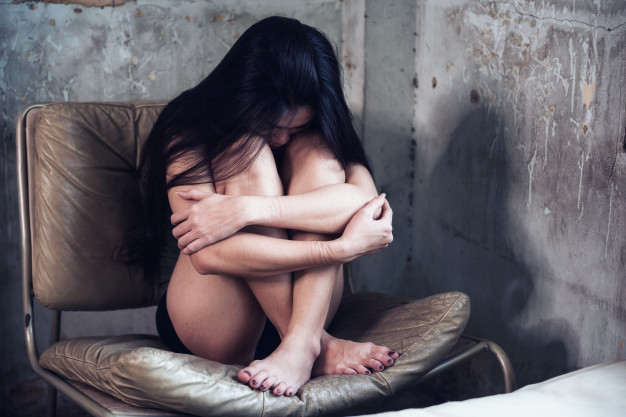 worried and anxious woman