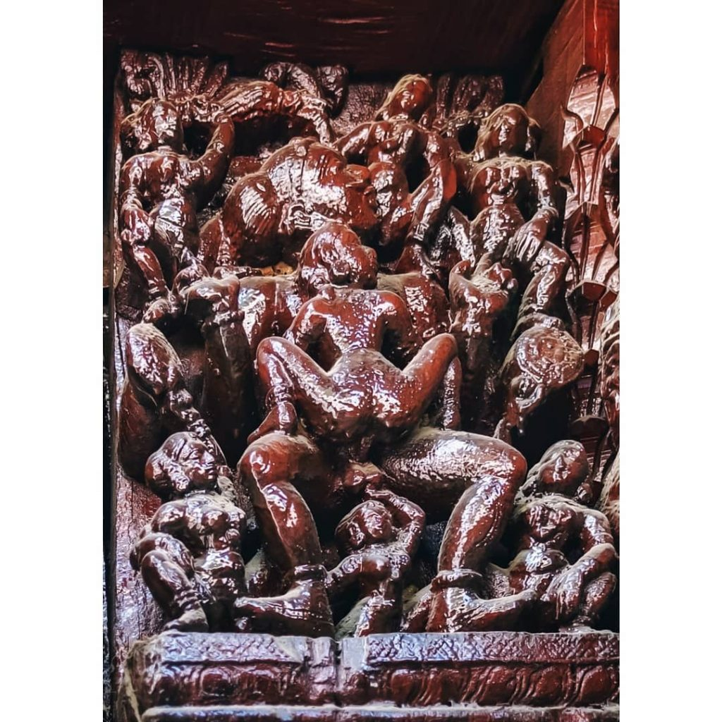 Srirangam temple sculpture Orgy