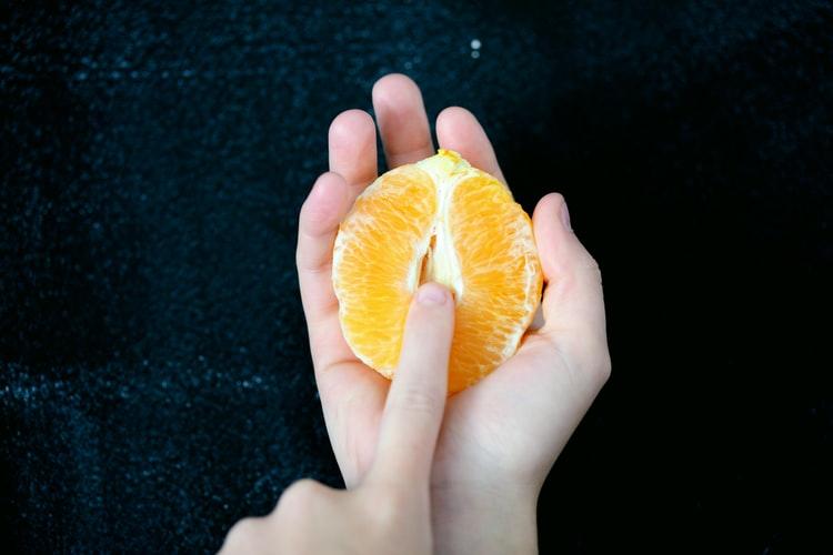 clitoral stimulation using fruit