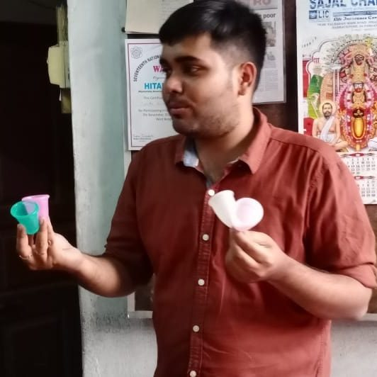 Sobhan talking about menstrual cups